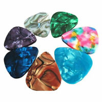 10x Multicolor Celluloid Acoustic Electric Guitar Picks Plectrums Thin 0.46mm