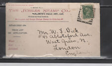 CANADA cover #36 cacheted to UK Smiths Falls ON 1899