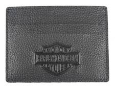 Harley-Davidson Men's B&S Embossed Front Pocket Leather Wallet XML3590-BLACK