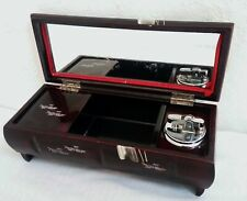Vintage Aizu Japan Lacquer Ware Music Trinket Box with Mirror +Cigarette Lighter