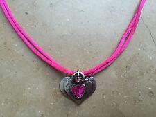 Trachtenschmuck Trachtenkette Dirndl Kette pink grün lila Herz Dirndlkette