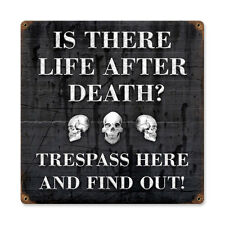 Vintage Style Retro Life After Steel Sign 12 x12