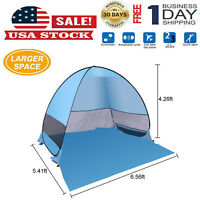 Pop Up Beach Tent, Sun Shelter Shade Easy Up Portable Anti UV Cabana Beach Blue