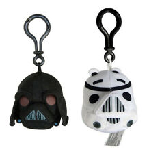 2 Angry Birds Star Wars Plush Backpack Clips : Darth Vader & Storm Trooper NEW