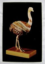 Postcard Faberge Ostrich Framed Vintage Brown Banded Agate Home Decor Fabrege