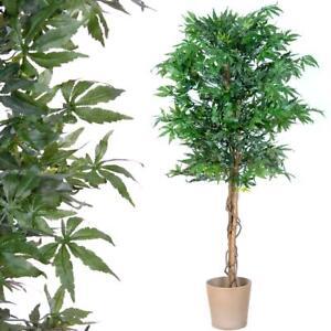 PLANTASIA® Arbuste Marijuana artificiel - 150 cm