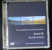 Acura RL Bose Surround Sound System DVD Audio Demonstration Disc