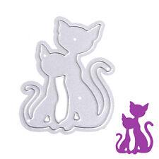 Two Cats Cutting Dies Stencils DIY Scrapbook Album Embossing Card Paper Craft
