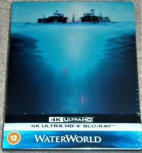 WATERWORLD 4K UHD STEELBOOK / INCLUDES THEATRICAL & EXTENDED CUT/ WORLDWIDE P+P