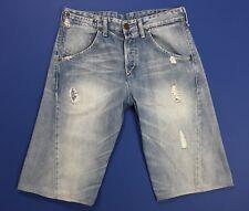 Levis 393 shorts jeans uomo usato blu denim boyfriend mare estate spiaggia T4203
