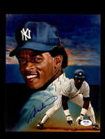 Rickey Henderson PSA DNA Coa Signed 8x10 Yankees Photo Autograph