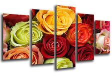 Cuadro Moderno Fotografico Flores Rosas base madera,145 x 62 cm ref. 26238