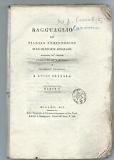 Libro Ragguaglio Viaggio Compendioso Dilettante Antiquario Barbari Caronni 1805