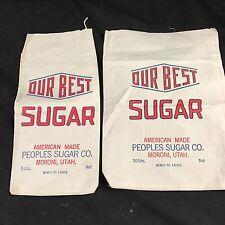 Unused Vintage Sugar Bags Utah Moroni Sugar Beets Antique Lot 2. 5#1# Mormon LDS