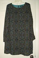 prAna Women's Multicolor Long Sleeve 100% Viscosa Tunic Top Size L Regular Large