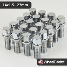 20 x Chrome Alloy Wheels Rims Lug Bolts 14 x 1.5 Conical Taper Seat 27mm Length