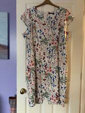 Vestido de verano nuevo Marks & Spencer ocasión especial tamaño 24 Elastano Stretch Aline