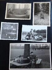 L1-6 Original 1946 Photographs X 5 British Rhine Army College Bed Park Boat