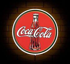 Segno distintivo di Coca Cola Luce a LED di Man Grotta retrò bere Stanza Dei Giochi REGALO PER RAGAZZI