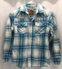 Red Camel Multi-Color Plaid Long Sleeve 100% Cotton Shirt Boys Size M
