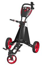 Easy Drive Golf Push Cart - Spin It Golf  -  Blacl/Red