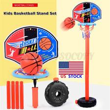 Adjustable Kids Mini Basketball Hoop Stand Outdoor Indoor Sports Games Toy Gift