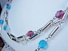 "Swarovski Crystal Beads - 60"" 0171 Nina Ricci Rhodium Plated Necklace with"