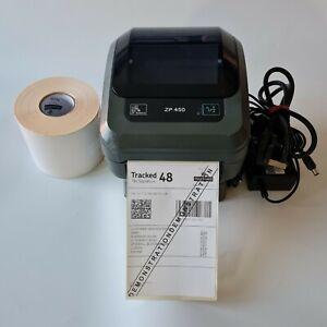 Zebra ZP450 as GK420d Thermal Label  Printer 500 4x6 Labels Mains USB Cables 669