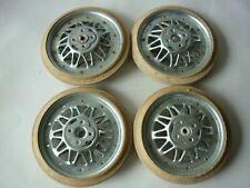 Lot de 4 roues d' ancienne poussette jouet ancien voiture à pédale