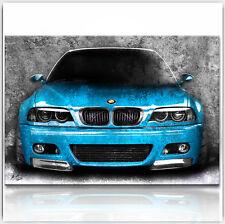 BMW 3er Bilder Auto Leinwand Abstrakt automobile Wandbild Kunstdruck XXL 340A