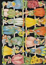 # GLANZBILDER # EF 7412 , 14 Blumen Elfen, wunderhübsch ! Bogen von 2014