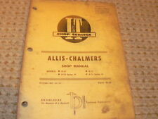 Allis Chalmers D10 D12  Tractor I&T Shop Manual