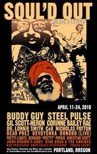 Rare Soul'd Out Music Festival Original Concert Poster Inaugural 2010 Portland