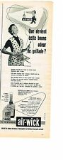 PUBLICITE ADVERTISING  1954   AIR-WICK    destructeur d'odeurs