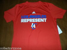 NWT ADIDAS LA CLIPPERS REPRESENT YOUTH CLIMALITE SHIRT