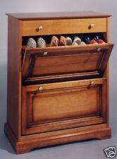 Meuble chaussures 2 abattants 1 tiroir Louis-Philippe