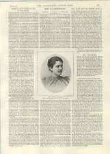 1892 più famoso Cordelia Peter Van BLEECK Mrs Grover Cleveland