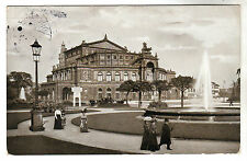 Konigl Hofope - Dresden Photo Postcard 1910