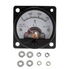 Voltmeter So 45 Ac 0 300v Round Analog Dial Panel Meter Voltmeter Gauge Black