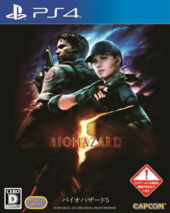 Resident Evil 5 BIO HAZARD Sony Playstation 4 PS4 Video Games From Japan USED