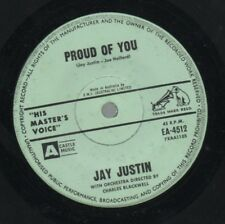 "JAY JUSTIN   Rare 1963 Australian Only 7"" OOP HMV Teen Pop Single ""Proud Of You"""
