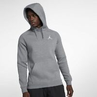 New Men's Air Jordan Jumpman Air Fleece Hoodie (940108-091) Carbon Heather/White