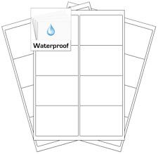 Weatherproof Labels Waterproof Stickers   Freezer Proof Labels   Submerge Labels