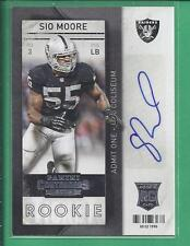 * 2013 panini contenders Rookie Autograph SIO MOORE  no.183 Raiders