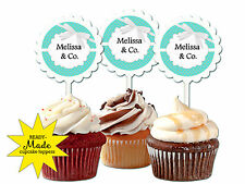 Tiffany Blue inspired cupcake toppers baby shower favors birthday party wedding