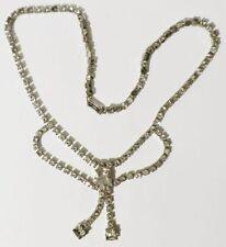 collier bijou vintage couleur or blanc rivière cristaux diamant swarovski * 3398