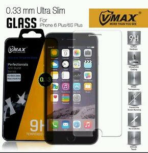 VMax Premium Real Tempered Glass Screen Protector 0.33mm for  iPhone 6 6S Plus