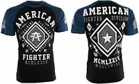 AMERICAN FIGHTER Mens T-Shirt KENDALL Athletic BLACK BLUE Biker Gym MMA $40