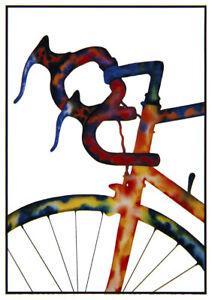 "John D Wibberley Cycle Art - Original ""Handle Bars"" Post Card 4.5"" x 6"""