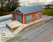 N Scale Building -Trackside Freight Depot (Cover Stock PRE-CUT PAPER Kit) FDN2